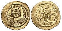 1 Slido Imperio bizantino (330-1453) Oro Mauricio Tiberio (539-602)