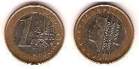 1 Euro Reino de los Países Bajos Bimetal