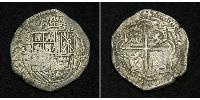 8 Real Bolivia Silver Philip III of Spain (1578-1621) / Philip IV of Spain (1605 -1665)