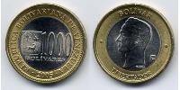 1000 Bolivar Venezuela Bimetal