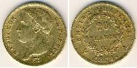 20 Franc First French Empire (1804-1814) Gold Napoleon Bonaparte  (1769 - 1821)