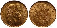 20 Franc Second French Empire (1852-1870)  Napoleon III (1808-1873)