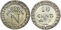 10 Centime First French Empire (1804-1814)  Napoleon Bonaparte  (1769 - 1821)