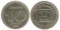 10 Dinar Yugoslavia Copper-Zinc