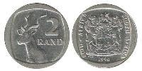 2 Rand Afrique du Sud Cuivre-Nickel 