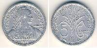 5 Cent French Indochina (1887-1954) Aluminium