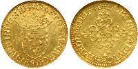 1 Ecu Kingdom of France (843-1791) Gold Jean-Baptiste Gaston de Bourbon, duc d'Orléans (1608 - 1660)
