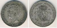 5 Peseta Kingdom of Spain (1814 - 1873) Silver