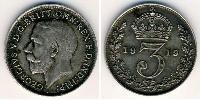 3 Penny United Kingdom (1707 - ) Silver