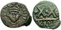1/2 Follis Byzantine Empire (330-1453) Bronze Heraclius (575-641)
