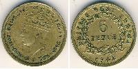 6 Penny British West Africa (1780 - 1960) Brass-Nickel George VI (1895-1952)