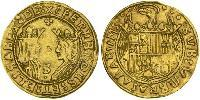 2 Excelente Spain Gold Isabella I of Castile (1451-1504) / Ferdinand II of Aragon