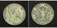 2 Lira Kingdom of Italy (1861-1946) Silver Umberto I (1844-1900)
