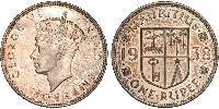 1 Rupee Mauritius Silver George VI (1895-1952)