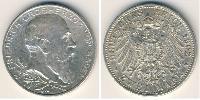 2 Марка Великое герцогство Баден (1806-1918) Серебро
