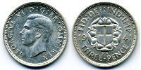 Threepence Regno Unito (1922-) Argento Giorgio VI (1895-1952)