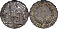 50 Cent French Indochina (1887-1954) Silver