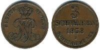 3 Schwaren States of Germany Copper