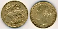 1 Sovereign Feriind Kiningrik (1707 - ) Or Victoria (1819 - 1901)