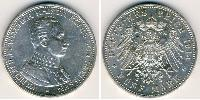 5 Mark Kingdom of Prussia (1701-1918) Silver