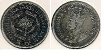 1 Sixpence South Africa Silver George V of the United Kingdom (1865-1936)