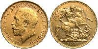 1 Sovereign Ôstralie (1788 - 1939) Or George V (1865-1936)