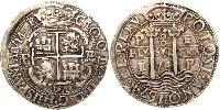 8 Real Viceroyalty of Peru (1542 - 1824) / Bolivia Silver Charles II of Spain (1661-1700)
