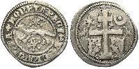 1 Dinar Croatie Argent Béla IV de Hongrie (1206 - 1270)