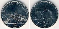 50 Forint Hungría (1989 - ) Cobre-Níquel