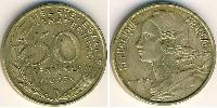 50 Centime French Fifth Republic (1958 - ) Aluminium-Bronze