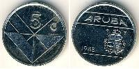 5 Cent Aruba Copper-Nickel
