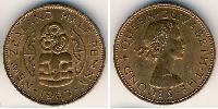 1/2 Penny New Zealand Bronze