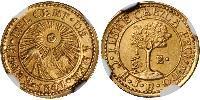 1/2 Escudo Guatemala / Federal Republic of Central America (1823 - 1838) / Costa Rica Gold