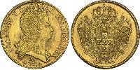 12800 Reis Brasile Oro Giovanni V del Portogallo (1689-1750)