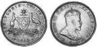 1 Florin Australia (1788 - 1939) Argento Edoardo VII (1841-1910)