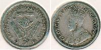 1 Threepence Sudafrica Argento Giorgio V (1865-1936)