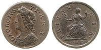 1 Farthing Kingdom of Great Britain (1707-1801) Copper George II (1683-1760)