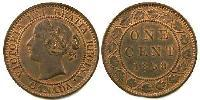 1 Cent Canada Copper-Tin-Zinc Vittoria (1819 - 1901)