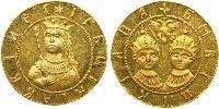 1 Ducat Tsardom of Russia (1547-1721) Gold Sophia Alekseyevna of Russia (1657-1704)