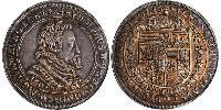 1 Thaler Saint-Empire romain germanique (962-1806) Argent Rodolphe II du Saint-Empire (1552 - 1612)