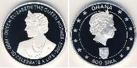 500 Sika Ghana Silber Elizabeth II (1926-)