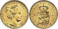 10 Gulden Kingdom of the Netherlands Gold Wilhelmina of the Netherlands (1880 - 1962)