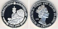 20 Krone Turks and Caicos Islands Silver