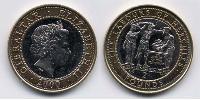 2 Pound Gibraltar Bimetal