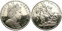 1 Corona Gibilterra Argento Elisabetta II (1926-)