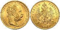 20 Franc / 8 Florin Autriche-Hongrie (1867-1918) Or Franz Joseph I (1830 - 1916)