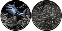3 Euro Republic of Austria (1955 - ) Copper/Nickel