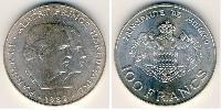 100 Franc Monaco Argent