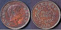 1/2 Cent Sarawak Copper
