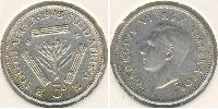1 Threepence South Africa Silver George VI (1895-1952)